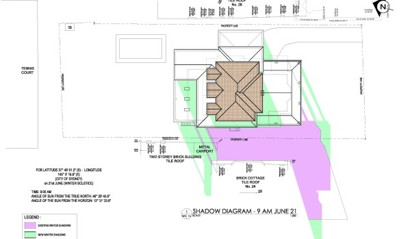 Shadow Diagram -House Renovation